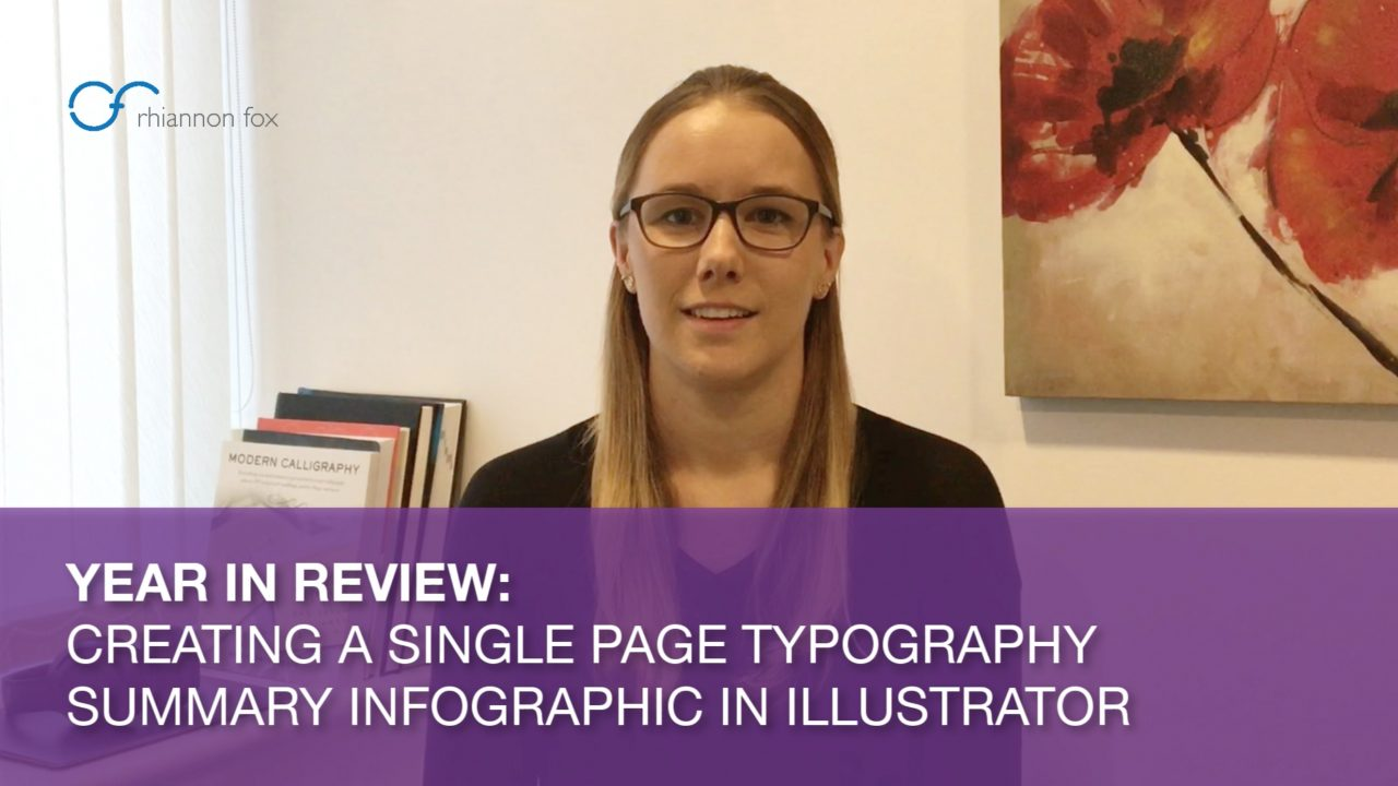 Year in Review: Creating a Single Page Typography Summary Infographic in Illustrator